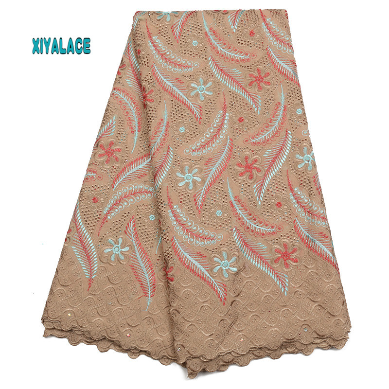 African Lace Fabrics 2019 Nigerian Swiss Voile Lace High Quality French Swiss Voile Lace Switzerland For Wedding YA1892B-4