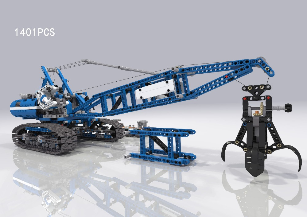 Hot technics technican Engineering vehicle crawler crane building block with motor bricks 42042 electric toys for boys gifts hot funland merry go round building block with motor figures whirligig bricks 10196 model electric toys collection for kids gfit