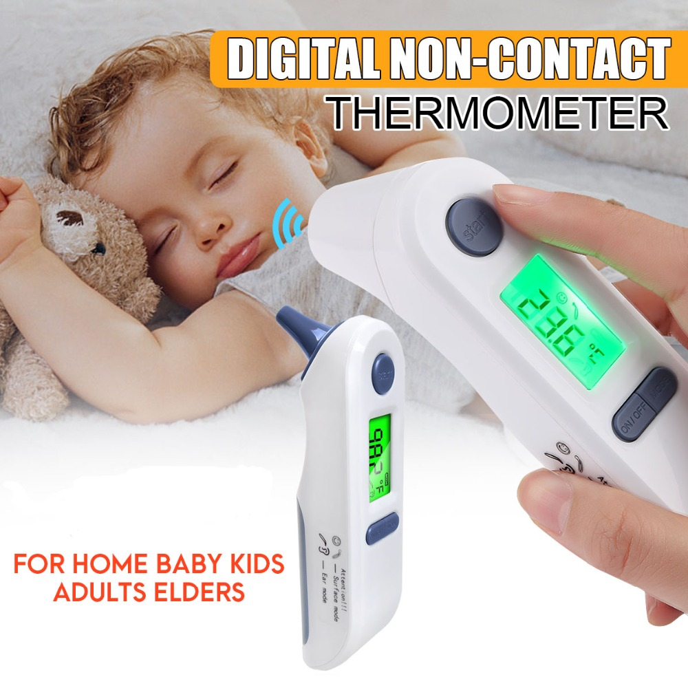 Digital portable infrared thermometer without contact front ear baby thermometers for children baby body electronic thermometer