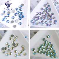 YANRUO 2058HF SS6 SS10 Effexts AB Hot Fix Crystal Iron On Glass Stones Flat Back Rhinestones