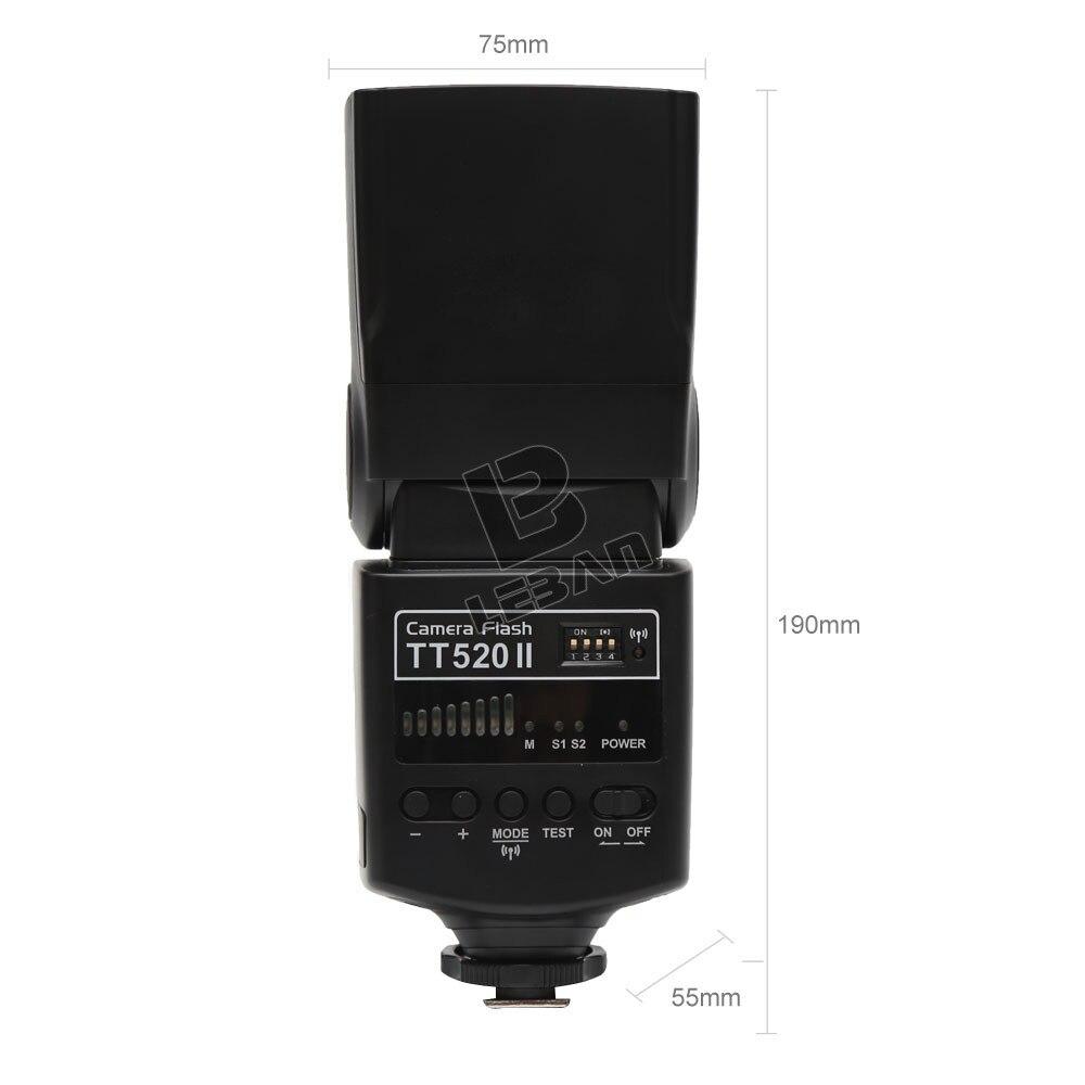 Godox กล้องแฟลช TT520II พร้อม Build   in สัญญาณไร้สาย 433 MHz สำหรับ Canon Nikon Pentax Olympus กล้อง DSLR-ใน แฟลช จาก อุปกรณ์อิเล็กทรอนิกส์ บน AliExpress - 11.11_สิบเอ็ด สิบเอ็ดวันคนโสด 3
