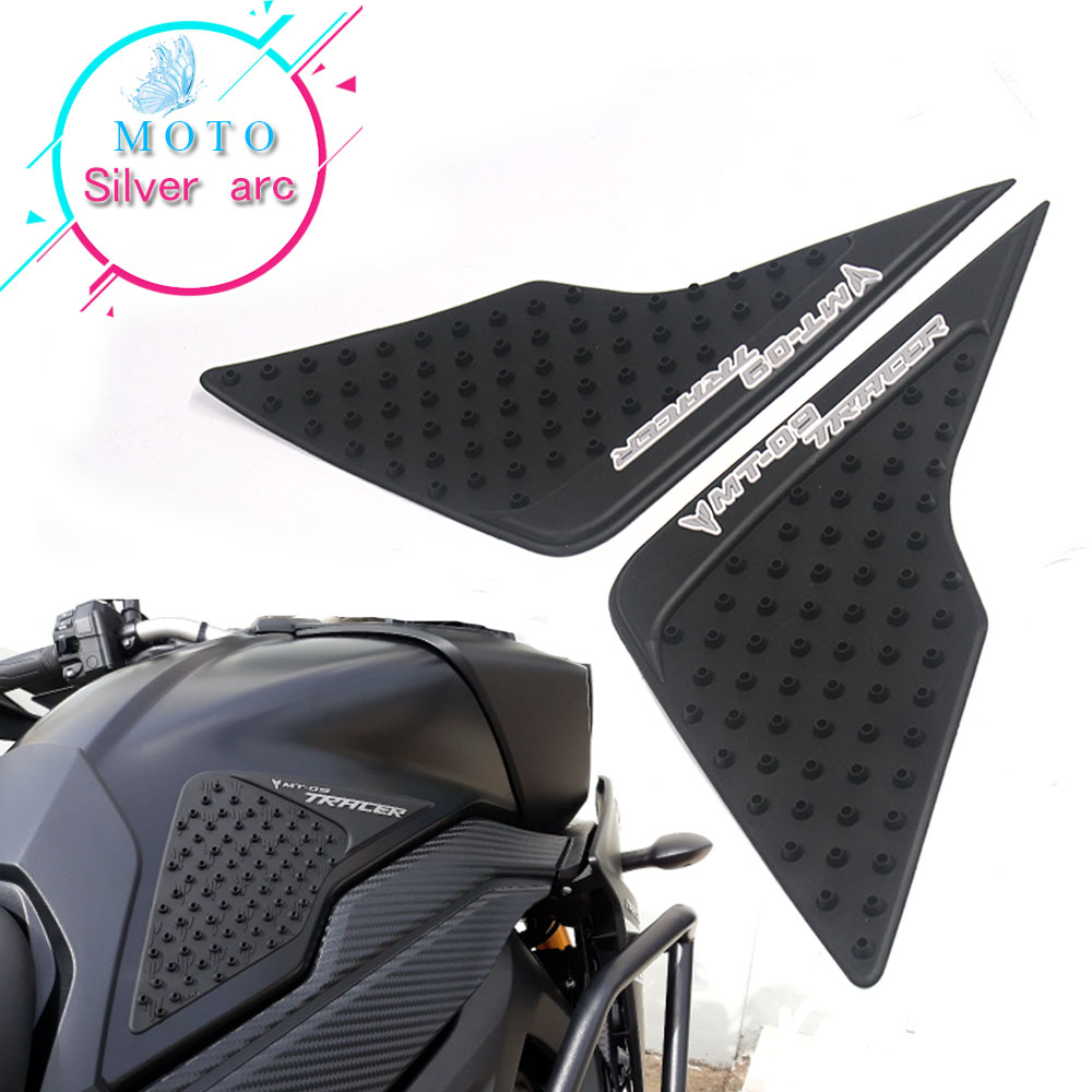Motorcycle Tank Traction Pad Side Gas Knee Grip Protector Anti Slip Sticker For Yamaha MT-09 MT09 Tracer 2015 2016 2017
