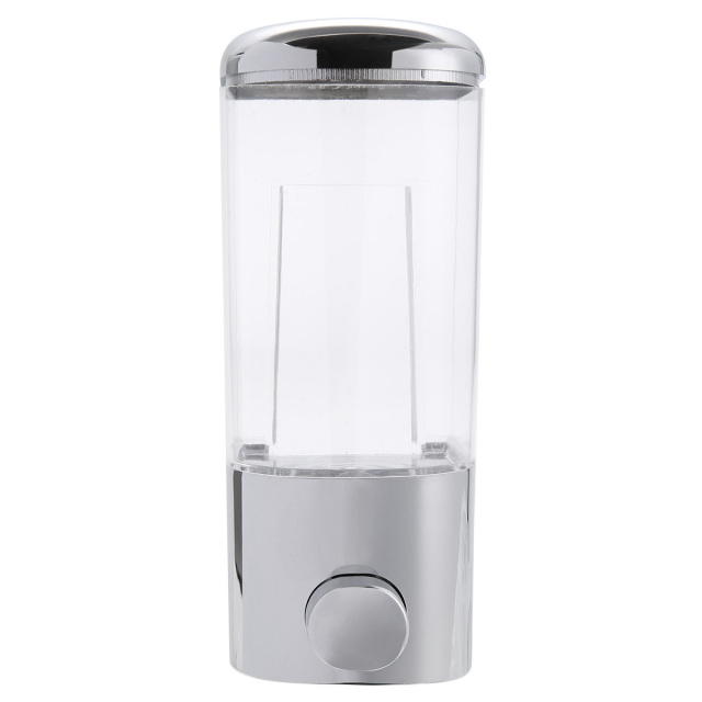 500ml Chrome Wall Mounted Soap Dispenser Bathroom Shower Lotion