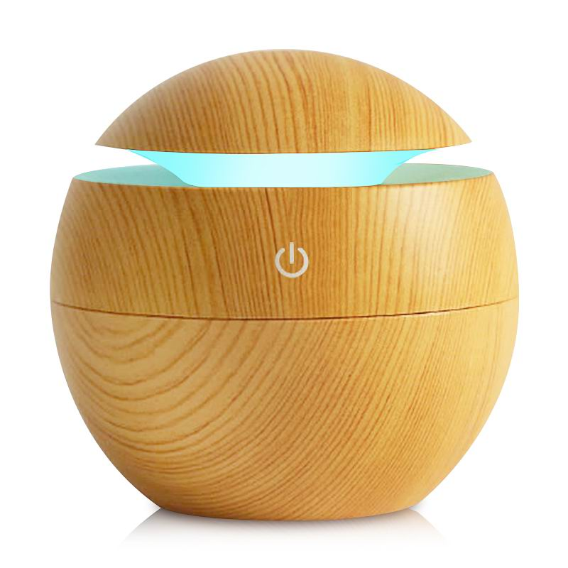 130ml USB Aroma Essential Oil Diffuser Ultrasonic Mist Humidifier Air Purifier 7 Color Change LED Night light for Office Home easehold essential diffuser 130ml led ultrasonic cool mist aroma air humidifier usb air purifier for office home bedroom