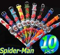 Wholesale 10pcs Spider man 3D Cartoon Children Kids Boys Students Quartz Wrist Watches, Free & Drop Shipping