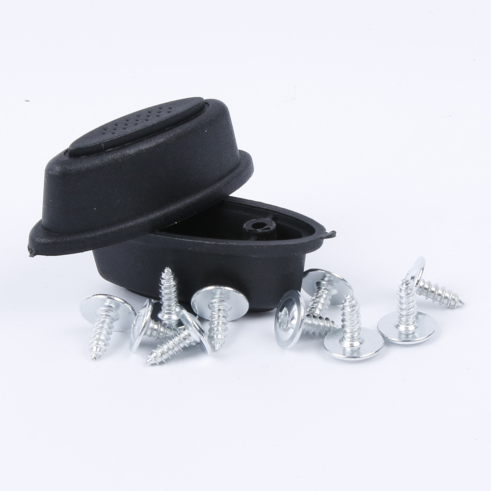 2 PCS/Pair Fashion Replacement Plastic Luggage Stud Foot Feet Pad Black For Any Bags Kit