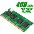 4 GB DDR3 PC3-10600 1333 MHz Não-ECC em Baixa Densidade de Memória DIMM de Memória Ram Compatível para Notebook Laptop PC 204 Pinos