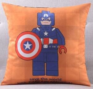Америка супер герой Супермен Человек паук Железный человек чудо-подушка с изображением Женщины чехлы на диван сиденье бархатное покрытие для подушки наволочка - Цвет: D
