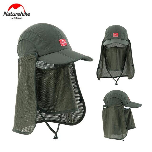 Naturehike Outdoor Unisex Men Women Anti-UV Sun Hat with Face Mask Camping Hiking Fishing Cap with Sun Mask NH12M002-Z 2