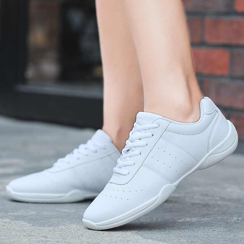 New Arrival Adult Dance Sneakers Women's White JazzSquare Dance Shoes Competitive Aerobics Shoes Fitness Gym Shoes Size 34 41