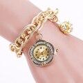 2016 Fashion Women Rhinestone Bracelet Watch Ladies Casual Women Wristwatch Relogio Feminino Gift 1896