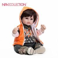 reborn toddler boy 55cm Silicone Vinyl Reborn Baby Doll Toys Lifelike Soft Cloth Newborn babies Doll Reborn Birthday Gift lol