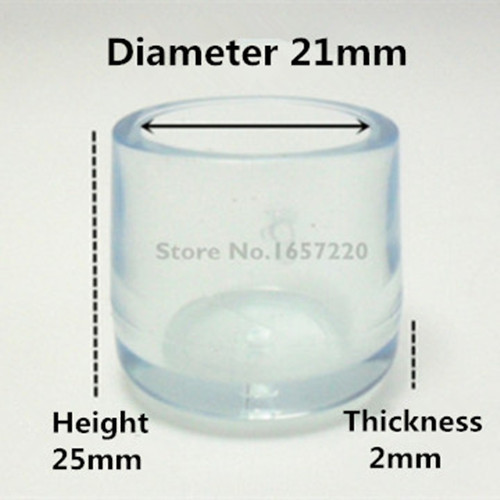16 pieces 21mm Furniture Legs Rubber Clear Silica Plastic Rubber Floor Protectors Furniture Table Chair Leg Socks Caps V20