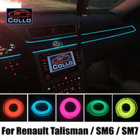 Car Styling 9M A Set EL Wire For Renault Talisman For Samsung SM6 SM7 / Car Romantic Atmosphere Lamp / Flexible Neon Cold Light