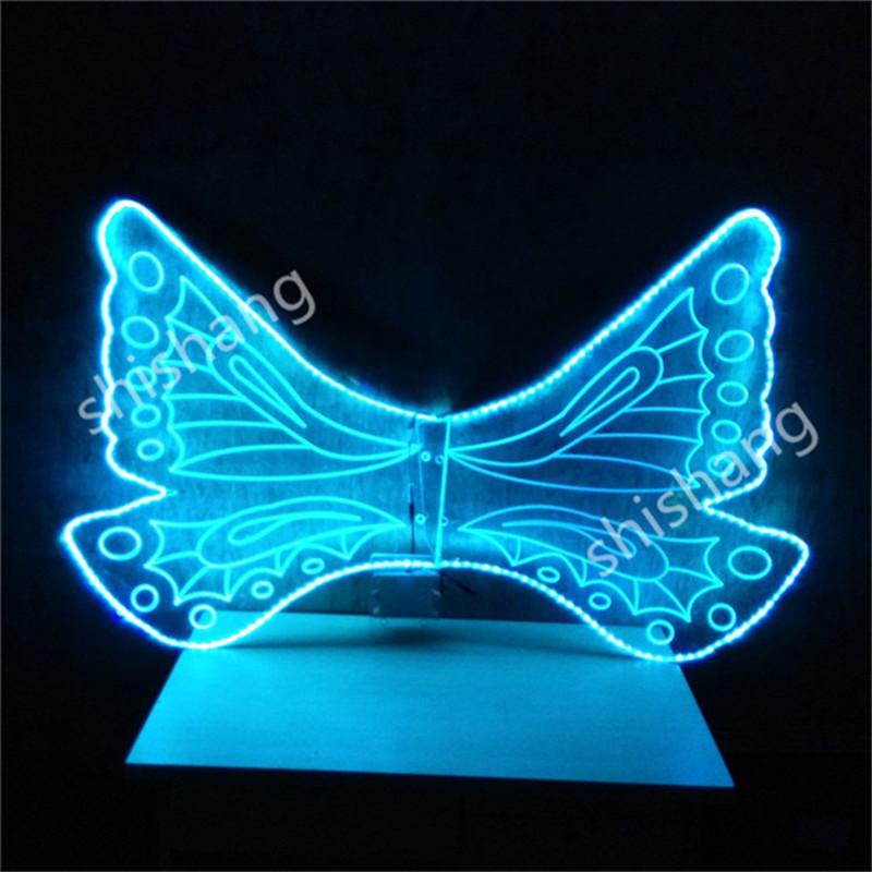 CY09 <font><b>LED</b></font> colorful costume butterfly ballroom dancing <font><b>wing</b></font> party belly dance dress luminous glowing dj disco party event supply