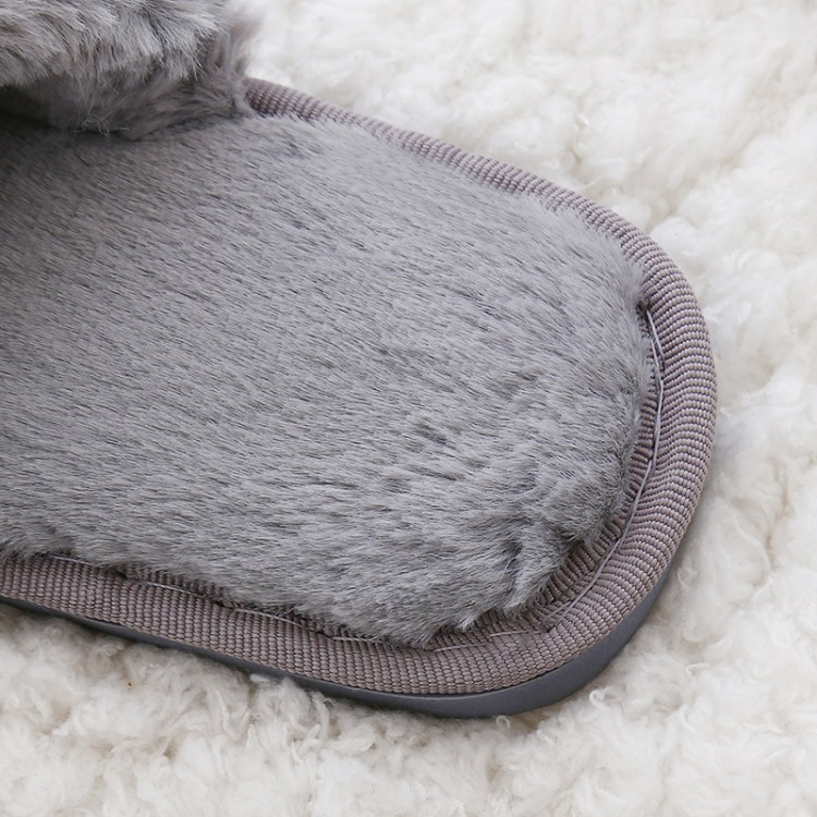 COOTELILI Faux Fur Winter Women Home Slippers