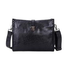 Designer Marken Aktentasche Leder Männer Big Size Schwarz Umhängetaschen Messenger Bags Hohe Qualität Vintage Business Taschen A0231