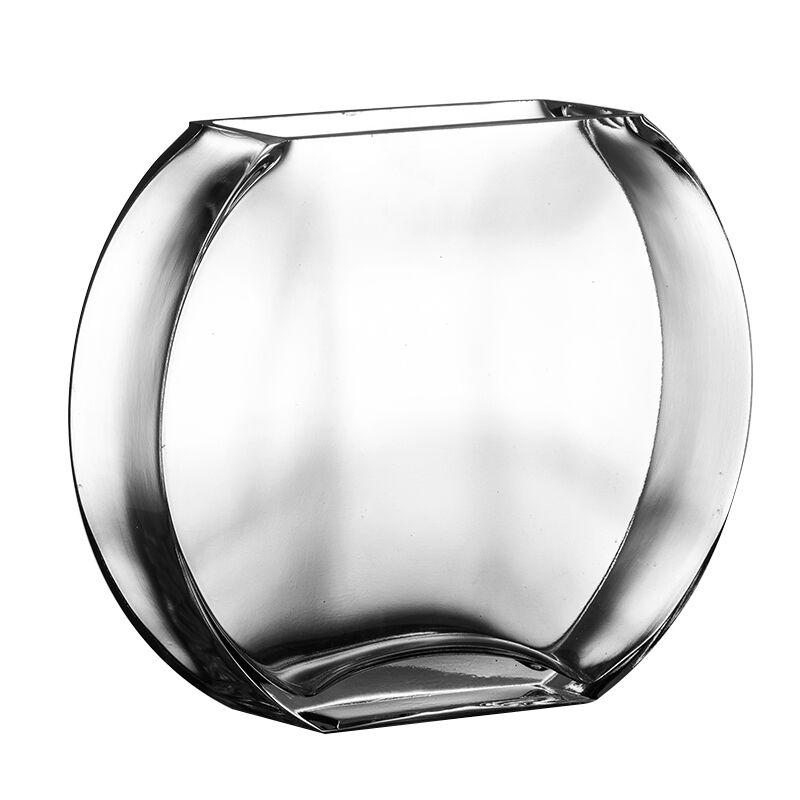 29%, réservoir de poisson en verre transparent créatif Simple de fleur de pêche réservoir de poisson d'or plat rond mini aquarium - 5