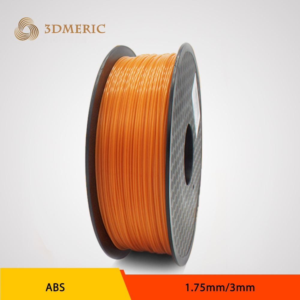 New 2016 3d printer filament orange color dual extruder 1.75/3mm abs filament printer 3d parts for createbot,makerbot,reprap etc