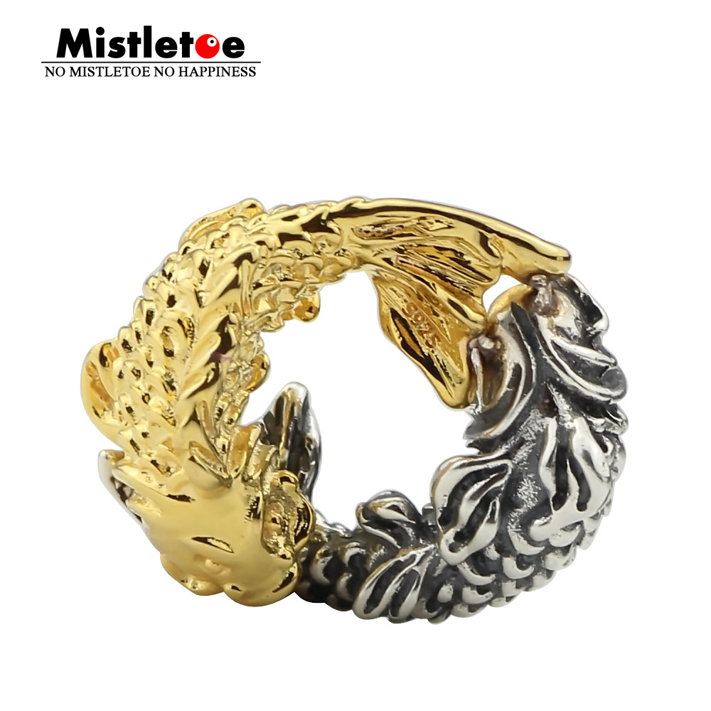 Mistletoe Genuine 925 Sterling Silver Nian Nian You Yu Two Tone Fish Charm Bead Fit European Bracelet Jewelry Beads Jewelry & Accessories