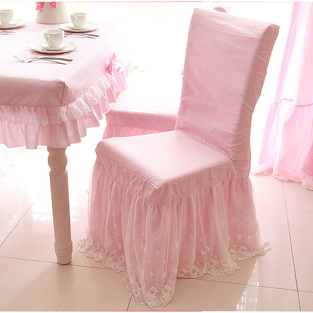 New sweet lace chair cover princess bow chair covers dining bedroom ...