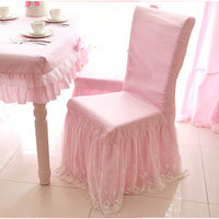 New sweet lace chair cover princess bow chair covers dining bedroom living room chair covers for wedding decorative home texitle