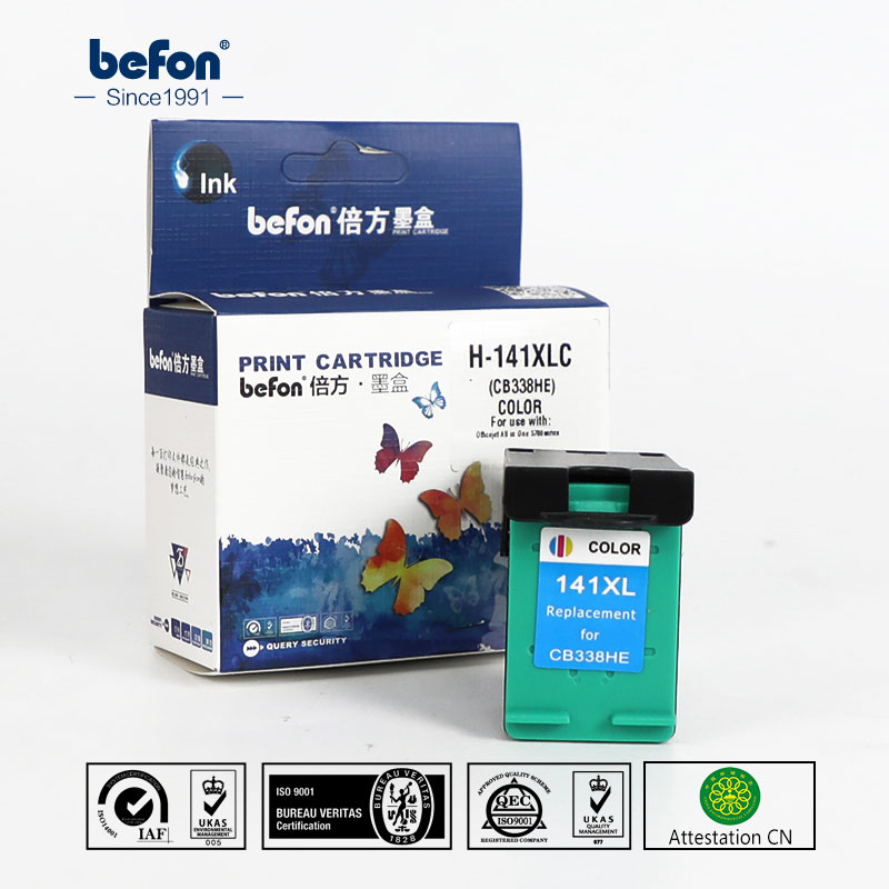 Befon 141XL cartucho compatible para HP 141 XL cartucho de tinta para Photosmart C4583 C4283 C4483 C5283 deskjet D4263