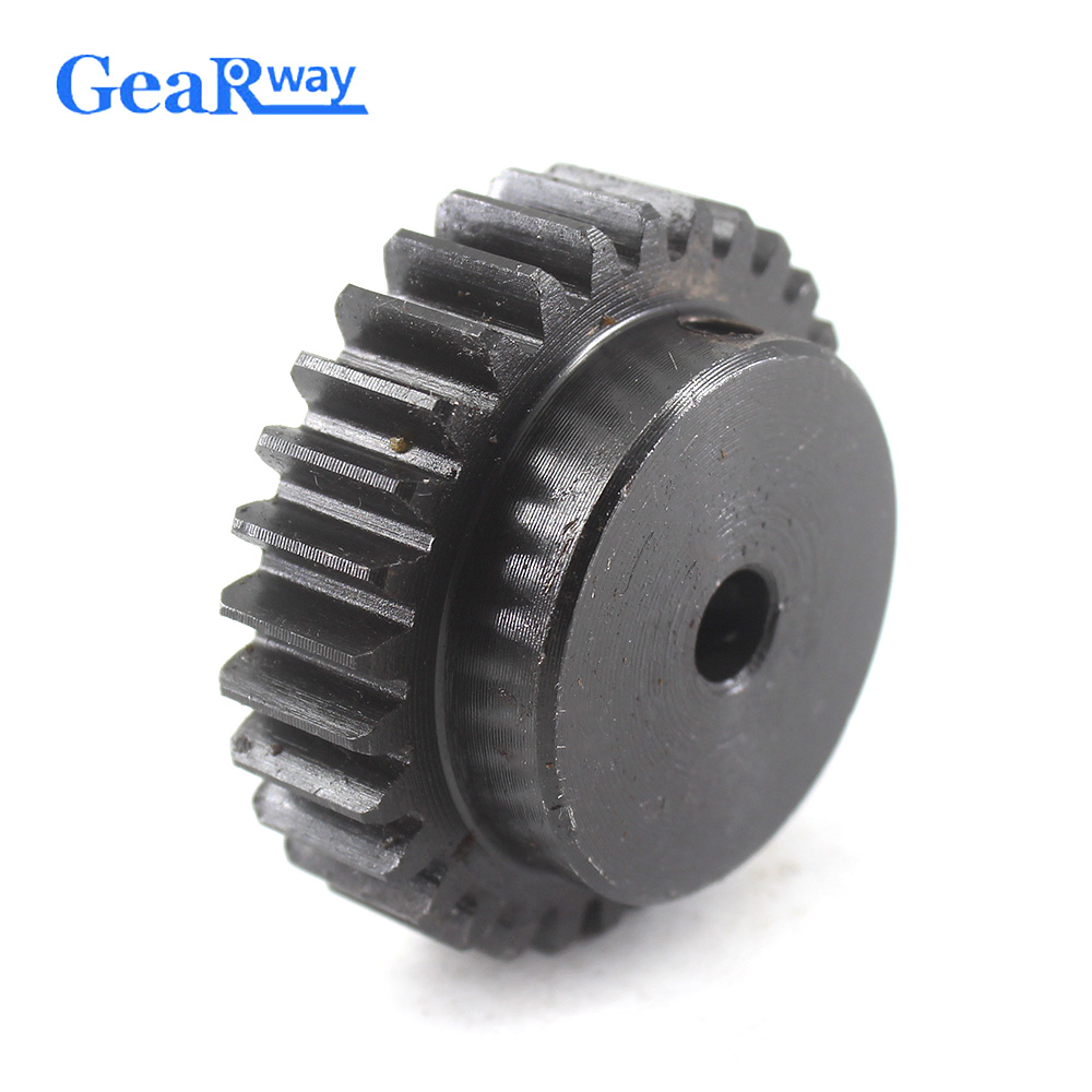 1.5M16T 5-12mm Bore Hole Width 12mm Module 1.5 Motor Metal Gear Wheel Top Screw