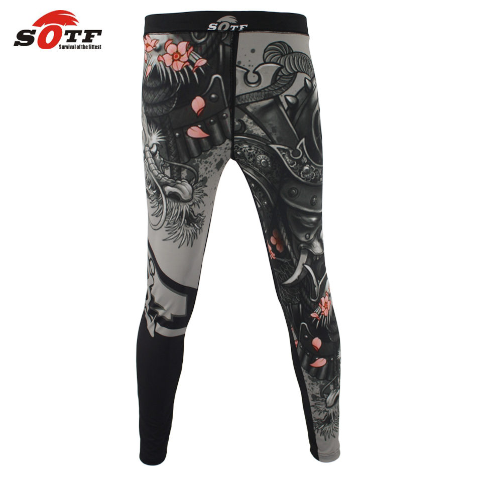 SOTF MMA boxing sports fitness personality breathable loose large size shorts Thai fist pants running fights kickboxing shorts