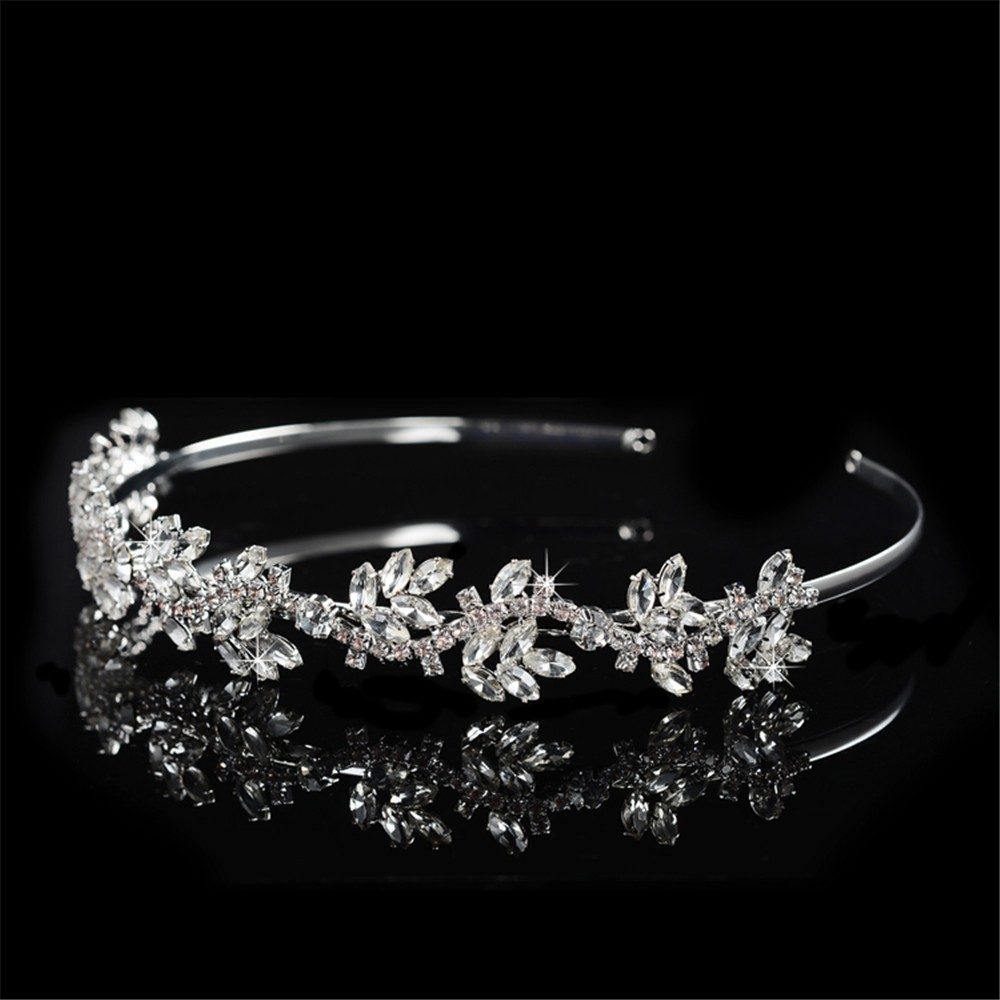 925 sterling silver luxury shine AAA CZ diamond tiara for women party wedding hair acessorios bridesmaid crown 585 gold plated crystal jewelry HF046 (2)