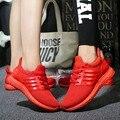 2017 Homens Casual Sapatos Chaussure Femme Cesta Cesta Sólida Plana Respirável Superstar Ultras Aumenta Zapatillas Formadores de Fundo Vermelho