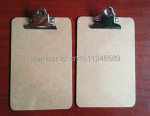 Hot sale A5 MDF clipboard writing pad menu file clip board menu clipboard with butterfly clip office supplies