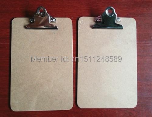 Jualan panas klip A5 MDF clipboard menulis menu folder clipboard menu clipboard dengan bekalan pejabat klip kupu-kupu