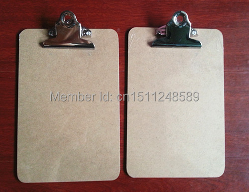 Hot sale A5 MDF clipboard writing pad menu file clip board menu clipboard with butterfly clip office supplies