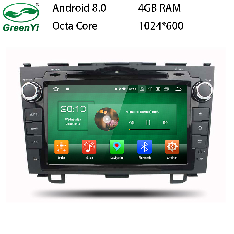 GreenYi Android 8.0 8 Core 4G RAM Car DVD GPS For Honda CR-V 2006 2007 2008 2009 2010 2011 CRV WIFI Autoradio Multimedia Stereo