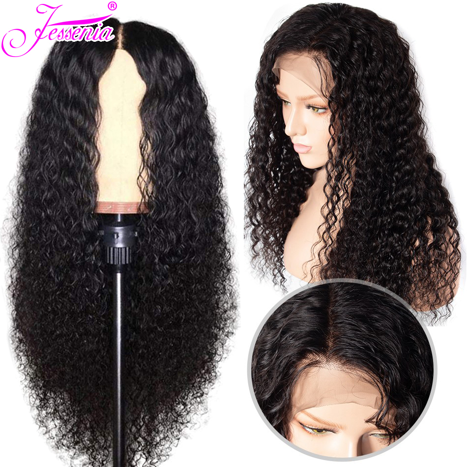 Brazilian Deep Wave 13*4  Lace Front Human Hair Wigs For Women With Baby Hair Pre Plucked  Lace Front Wig
