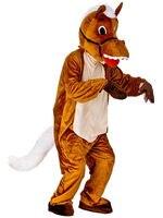Plush Henry Horse Mascot Costume Adult Std Size Farm Animal Halloween Brown