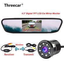 4.3 pollici HD Auto Specchio Retrovisore Monitor CCD Video Auto di Assistenza Al Parcheggio LED Night Vision Telecamera di Retromarcia Videocamera vista posteriore