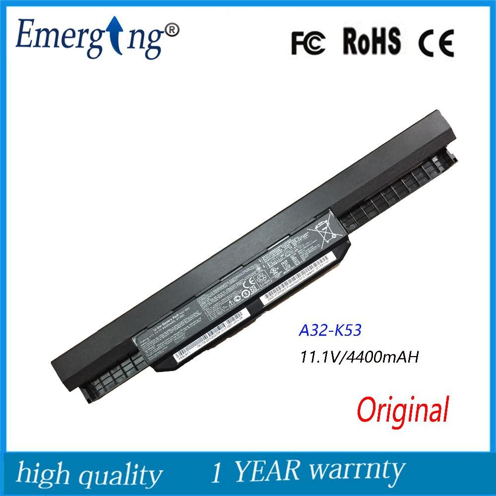 11.1V 4400mah New Original High Quality Laptop Battery for ASUS A32-K53 X44L K53S X43B A53 A43S X84H X43S new laptop battery for asus k40 x8a oem 4400mah 11 1v