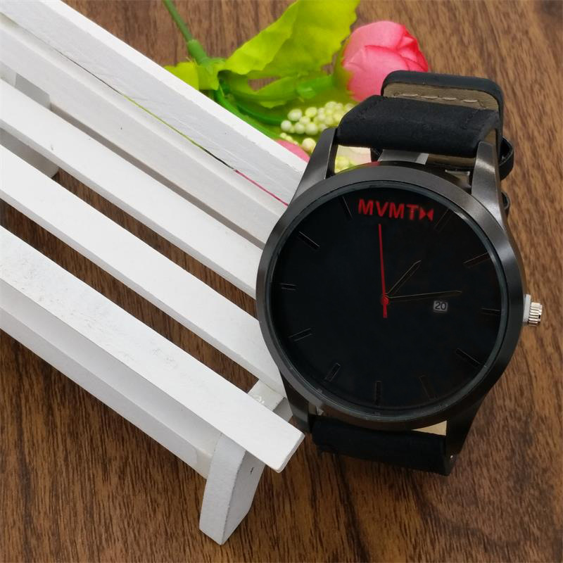 2018 New Watch Men Luxury Brand Famous Abrasive Belt Men Leather Simple Business Fashion Quartz Wrist WatchMale Clock new fashionable men business silver belt gear quartz watch