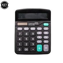 12 цифр калькулятор рассчитать коммерческий инструмент батареи или солнечной батареи 2в1 Двойной питание офисный настольный электронный научный калькулятор