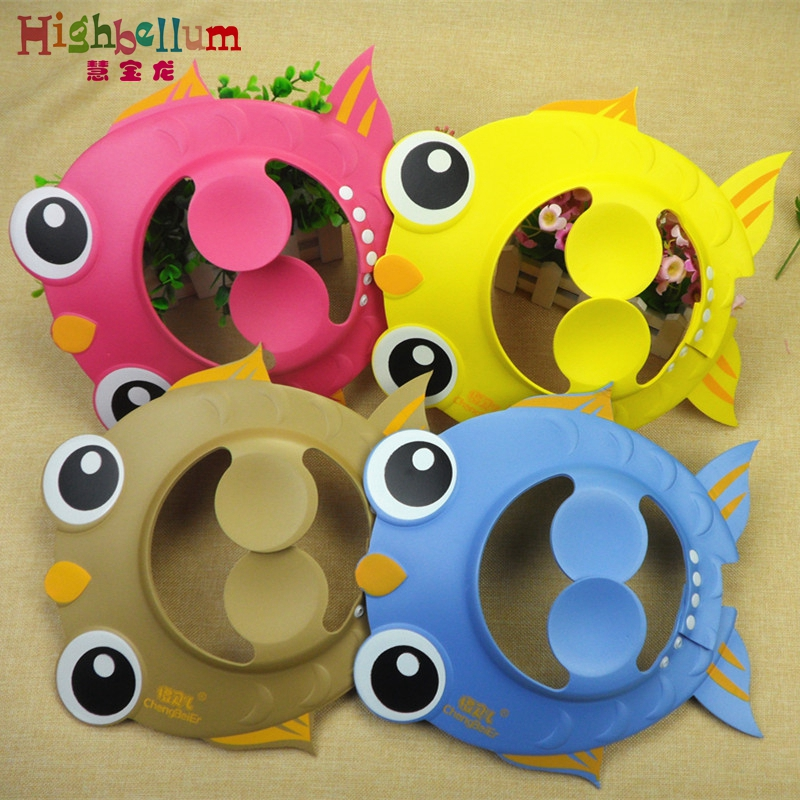 Shampoo Cap 2017 New Baby Bath Adjustable Shower Hat Goldfish Ear Protection Children Shower Cap Bath & Shower Product Baby Hat