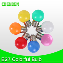 220V Home Lighting Colorful Led Bulb Ampoule E27 3W Energy Saving Light Red Orange Yellow Green Blue Milk Pink Lamp Smd2835