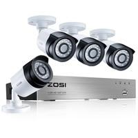 ZOSI Security Camera System 4ch CCTV System DVR DIY Kit 4 X 1080P Security Camera 2