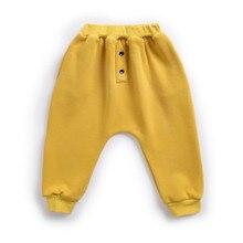 Детские хлопковые штаны-шаровары детская осенне-зимняя одежда больших размеров утепленные детские штаны для девочек