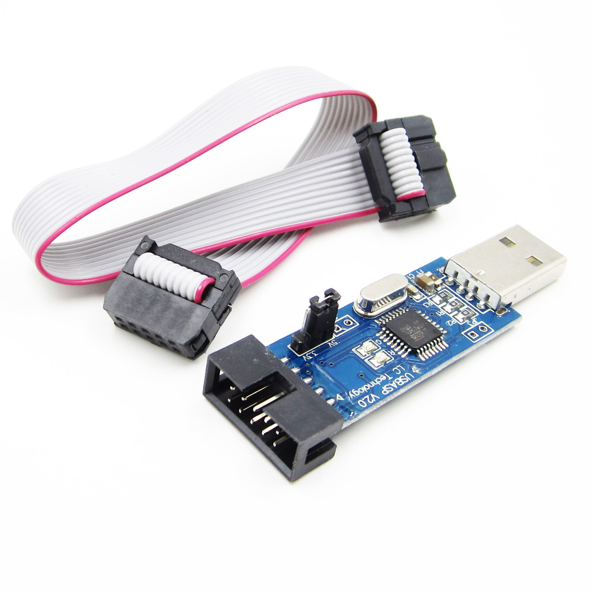 USBASP USBISP AVR Программист Адаптер 10 Контактный Кабель USB ATMEGA8 ATMEGA128