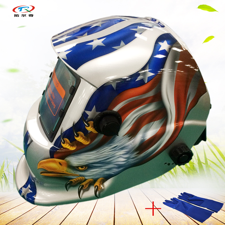 2233ff gb To Make One Feel At Ease And Energetic 2019 Latest Design Silver Welding Helmets Auto Darkening Mig Tig Gloves Welding Mask Factory Price Full Face Solar And Lithium Cell Hd13