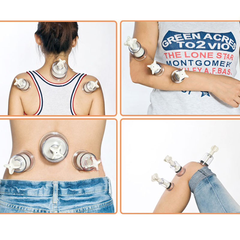 все цены на  4pcs Plastic Vacuum Body Massage Cupping Suction Acupressure Enlarger Cupping NO-Pump Suction Enlarger Cups Vacuum Size S/M/L/XL  онлайн