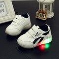 2017 nova cesta de carregamento led crianças shoes com light up casual crianças boys & girls sneakers luminosos brilhantes shoes enfant