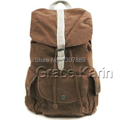 66cd303663 Grace Karin Vintage Womens Mens Casual Canvas Backpack Rucksack 2014 Bookbag  Fashion Hiking Bag Satchel Shoulder Bag BG58 X